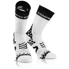 Compressport Pro Racing Ultralight Bike High Socks white-black